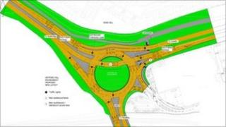 Plans for the new roundabout