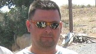 Corporal David Jones, from Denbigh, who died in Cyprus following a road accident.