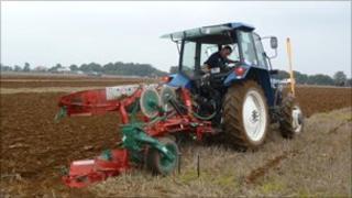 Colin Bowen ploughing (image: Simon Broad)