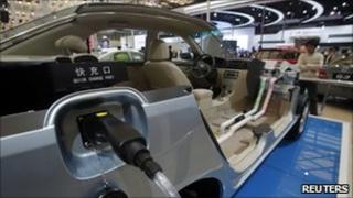 An electric vehicle from Chinese automaker BYD