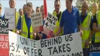 Flintshire trailer-making staff on strike