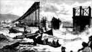 Illustration of the Tay Bridge disaster 1879