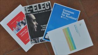 Four main party manifestos