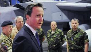 David Cameron on visit to RAF crew based in Italy