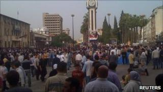 Demonstration in Syrian city of Homs on 19 April 2011