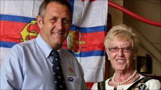 Ray Chapman and Skegness Town Mayor, Councillor Sue Binch