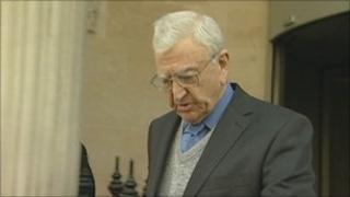 Bryan Davis leaving Bristol Crown Court