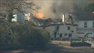 The fire at the Pandora Inn