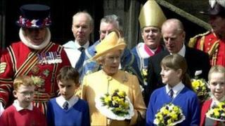 The Queen at the Maundy ceremony in 2001