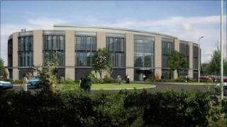 CGI of new Criminal Justice Centre, Northampton