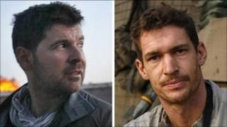Chris Hondros (L) and Tim Hetherington