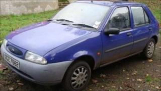 Blue Ford Fiesta