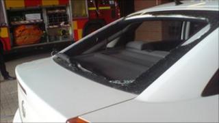 Fire Service car vandalised