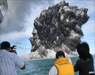 Undersea volcanic eruption near Tonga