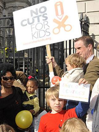 Children's services protest