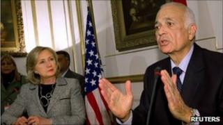 US Secretary of State, Hillary Clinton and Egyptian Foreign Minister, Nabil el-Arabi.