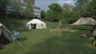 Climate camp in Lewes