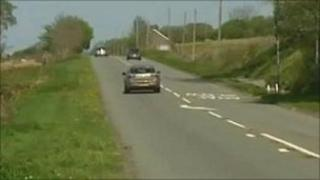The two motorcyclists were injured on the A470 at Bronaber, near Trawsfynydd