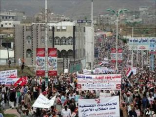 Anti-government demonstration in Ibb (25 April 2011)