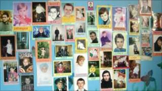 Memorial wall in the Minsk hospice