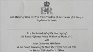 Ross royal wedding invite