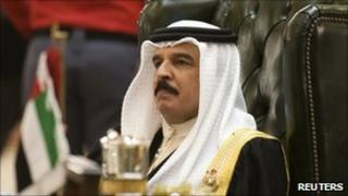 Bahrain's King Hamad bin Isa al-Khalifa - file picture
