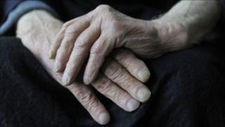 Older man's hands