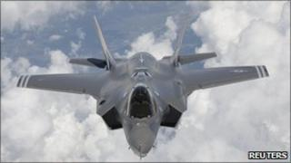 An F-35 seen arriving at Edwards Air Force Base in California in 2010