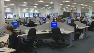 National Grid's control centre in Hinckley