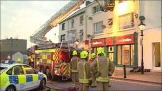Fire above Ladbrokes shop in Charles Street, Milford Haven