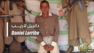 French hostage Daniel Larribe is shown in the video