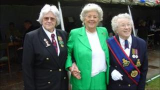 Edna Storr (left) with Betty Boothroyd and Mildred Veal