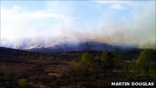 The fire near Drumnadrochit. Photo by Martin Douglas