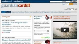 Guardian Cardiff website