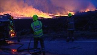 Firefighters at Drumnadrochit blaze