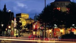 Friargate by night