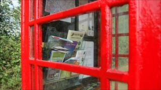 The phone box in Toot Hill converted into a tourist information kiosk
