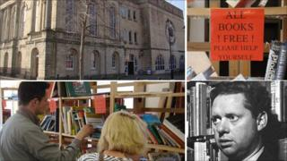 The book give away was held at the Swansea's Dylan Thomas Centre