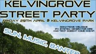 A picture of the street party website