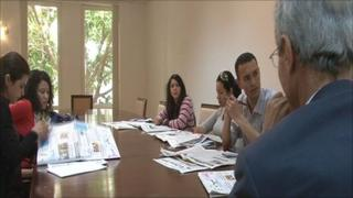 Nourredine Achour is leading the daily editorial meeting at Assabah newspaper, one of Tunisia's oldest newspapers