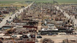 Greensburg, Kansas flattened after the 2007 tornado struck Courtesy: FEMA