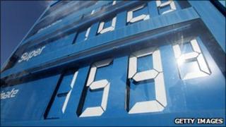 German petrol prices