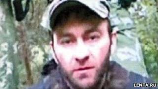 Suspected Kabardino-Balkaria militant leader Asker Dzhappuyev (image from Russian news website lenta.ru)