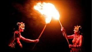 Torches at Beltane Festival