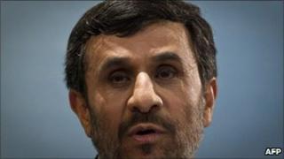 Iranian President Mahmoud Ahmadinejad in Tehran, 4 April
