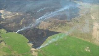 Fire on Anglezarke Moor