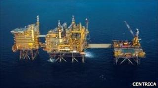 Morecambe field gas platform