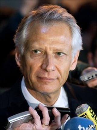 Former French Prime Minister Dominique de Villepin, 28 January 2011