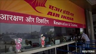 Deserted Air India counter after pilots' strike