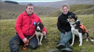 Graeme White and Fern, Karen Fisher and Sam